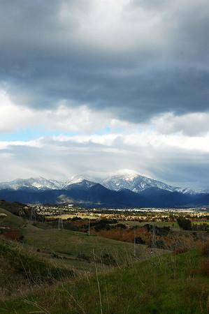11/21/2004 - Snow on Santiago Peak