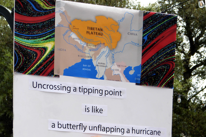 a butterfly unflapping a hurricane