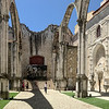 Ruins of the Carmo Church, Lisbon, Portugal.