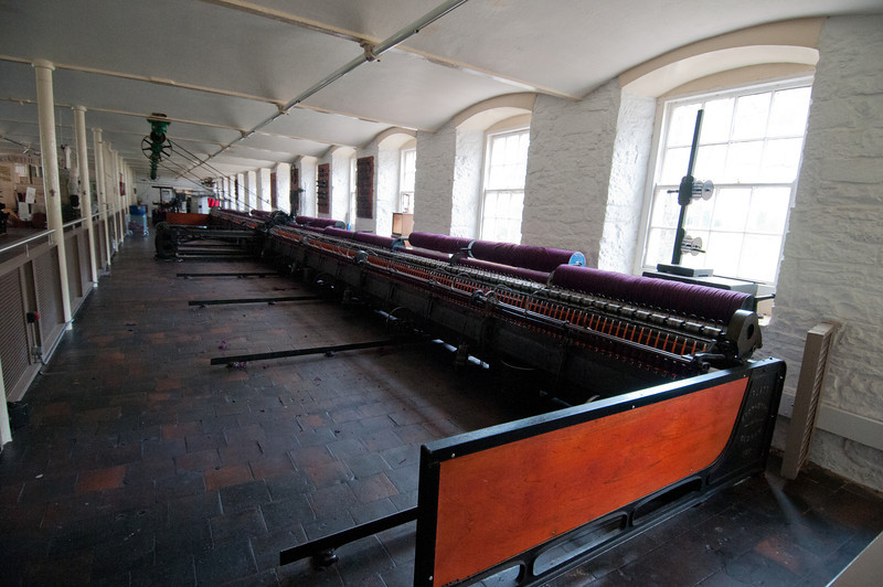 Inside Robert Owen's Mill Museum in New Lanark, Scotland