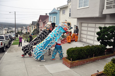 Chinese New Years Lion Dance House Blessing 2.15.2014