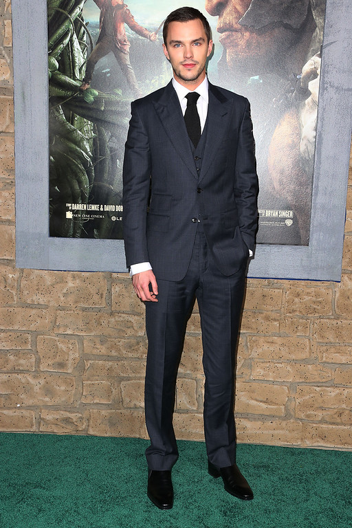 ". Actor Nicholas Hoult attends the Premiere Of New Line Cinema\'s ""Jack The Giant Slayer\"" at the TCL Chinese Theatre on February 26, 2013 in Hollywood, California.  (Photo by Frederick M. Brown/Getty Images)"