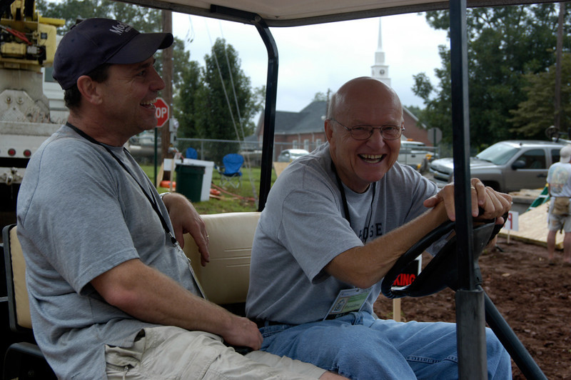 Barry Spofford and Bill Scott of CFCP. Hey, wait a minute. They're having way too much fun! cl
