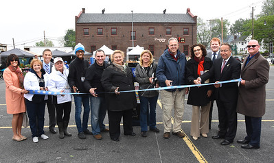Officials welcome Charlotte Farmers Market to Stutson Street. 6/1/2015