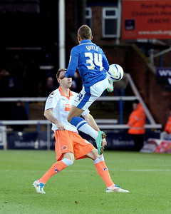 Peterborough United 1 - 4 Blackpool 01.12.12  NO FOOTBALL IMAGES FOR SALE OR REPRODUCTION