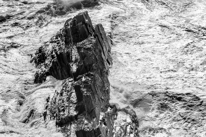 Surf breaking on rocks, Old Head of Kinsale, Kinsale, County Cork, Ireland