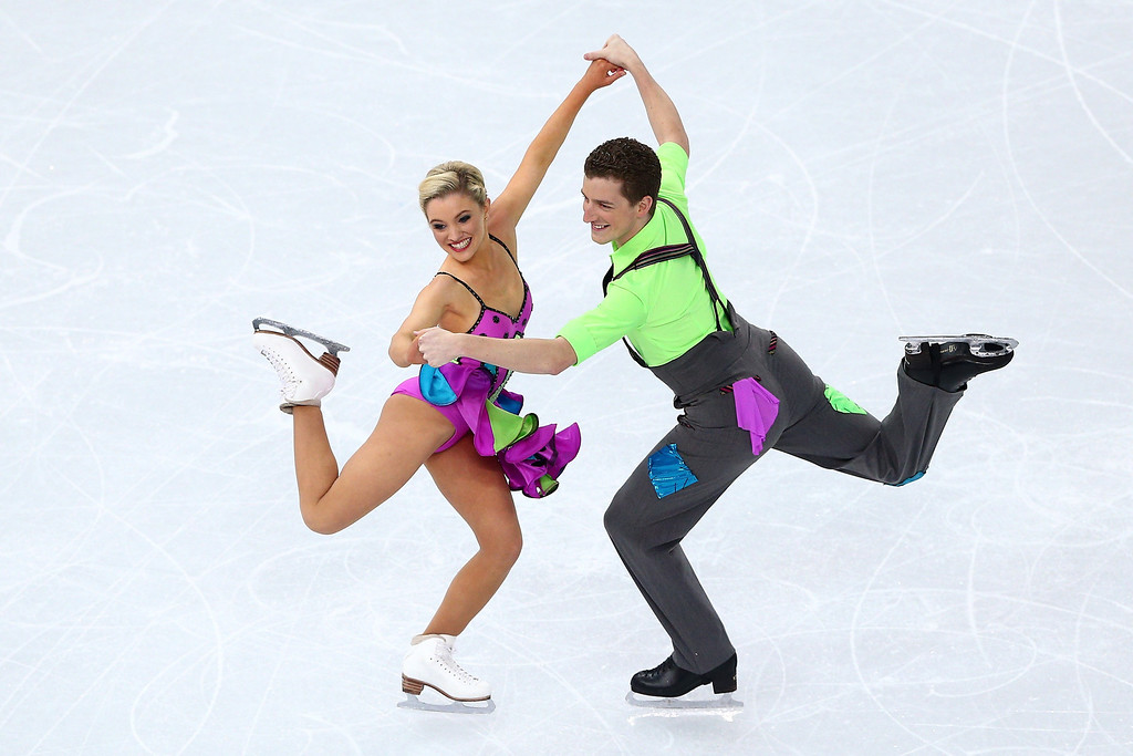 . Danielle O\'Brien and Gregory Merriman of Australia compete in the Figure Skating Ice Dance Free Dance on Day 10 of the Sochi 2014 Winter Olympics at Iceberg Skating Palace on February 17, 2014 in Sochi, Russia.  (Photo by Clive Mason/Getty Images)