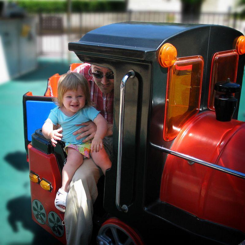 07/03 - Riding on the choo-choo train