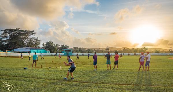 Exercising With A Sunset (3). Viñales, Cuba