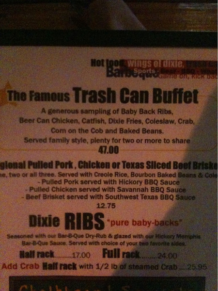 Trash Can Buffet?  George says:  Um, yeah, I'm in!
