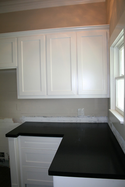 new kitchen cabinets and granite, august 2009
