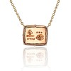 'For You I Live' 18kt Rose Gold Cast Rebus Pendant, by Seal & Scribe 0