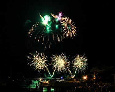 2016 Fireworks Including the Barge Explosion