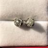 1.73ctw Georgian Peruzzi Cut Diamond Collet Stud Earrings 9