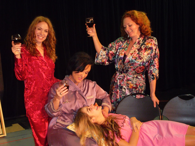 """. \""""The Sisters Rosensweig,\"""" directed by David J. Magidson features the talents of Kristin Condon of Ann Arbor (from left), Sandra Birch of Westland, Madison Deadman of Howell, Emily Rose of Hazel Park. Photo by Jessica Womack"""