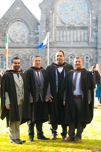 01/11/2018. Waterford Institute of Technology (WIT) Conferring Ceremonies 2018. Pictured are Gavin Connolly Cork, Paul Mcgrath Waterford, Gencho Dishev Sligo, David Walsh Waterford .Picture: Patrick Browne