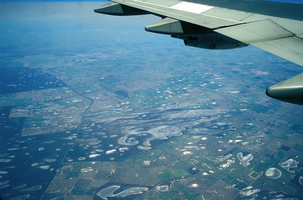 Dryland Salinity while appraching Perth, WA, Australia