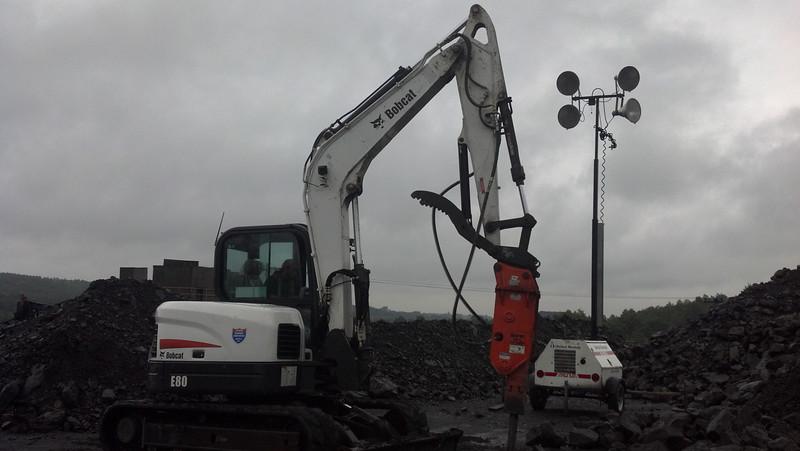 NPK GH4 hydraulic hammer on Bobcat  mini excavator (7-20-12) (2).jpg