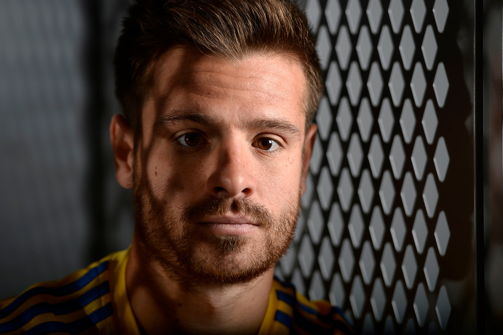 . COMMERCE CITY, CO - FEBRUARY 11: Luis Solignac poses for a portrait during Colorado Rapids media day on Thursday, February 11, 2016. (Photo by AAron Ontiveroz/The Denver Post)