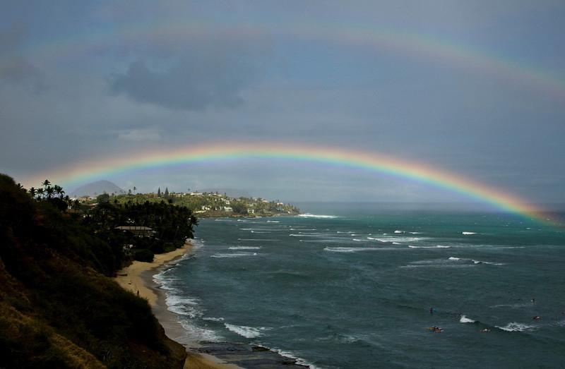 Rainbow from Diamond Head Bluff
