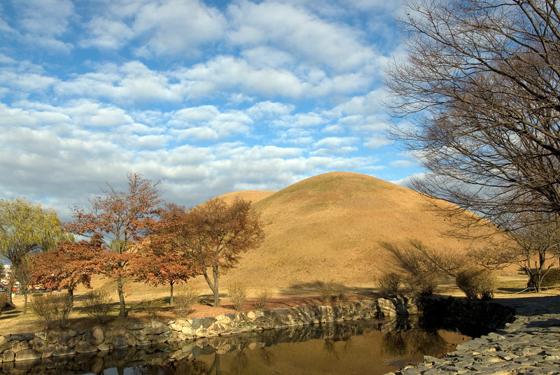 Beautiful clouds over at Bokcheon-dong Burial Mounds and Museum in Busan, South Korea