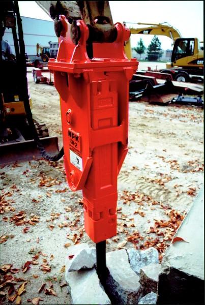 NPK GH2 hydraulic hammer on Cat mini excavator (6).JPG