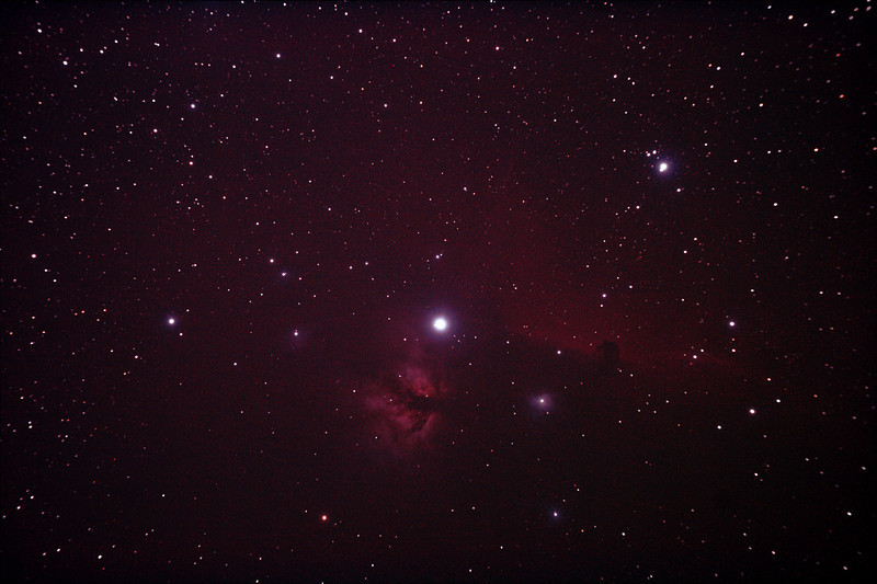 IC434 Horsehead Nebula near Star Alnitak - 9/12/2010 (Re-processed Stack 2/3)