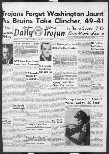 Daily Trojan, Vol. 42, No. 85, March 06, 1951