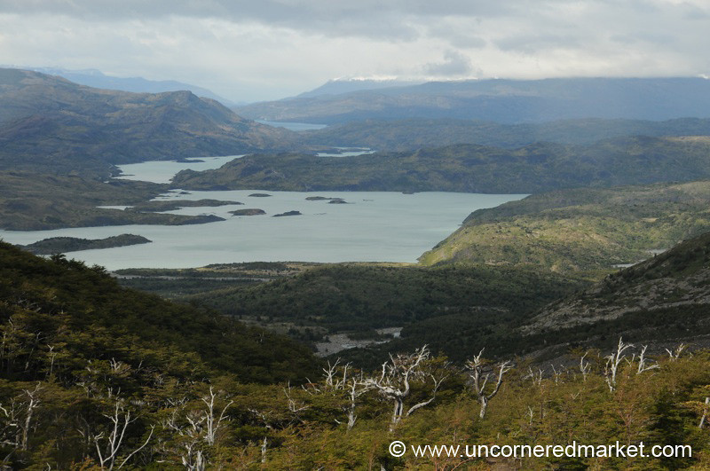 View of Lake Pehoe from the French Valley - Torres del Paine, Chile