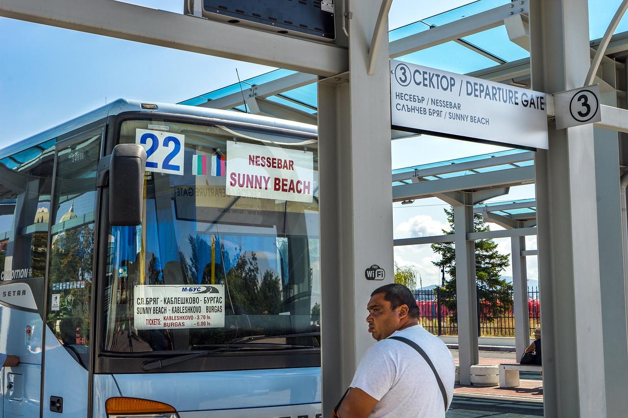 Bulgaria Burgas Bus Platform