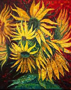 """Sunflowers"" (oil) by Sergey Makarov"