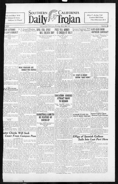 Daily Trojan, Vol. 16, No. 79, March 31, 1925