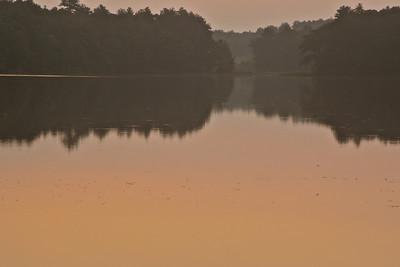 Sunrise over Great Pond