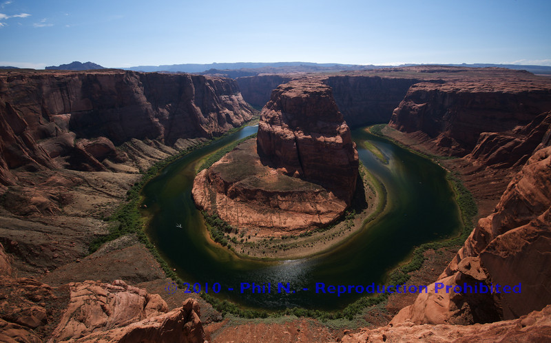 """""""Horseshoe Bend"""" near Page, AZ not very long after a HEAVY rain storm moved through.  This view is the treat after a nice hike.  A picture of the storm coming in is available in this gallery as well.  The view of the storm coming in is at a high point of the area. NOT a good place to be!!"""