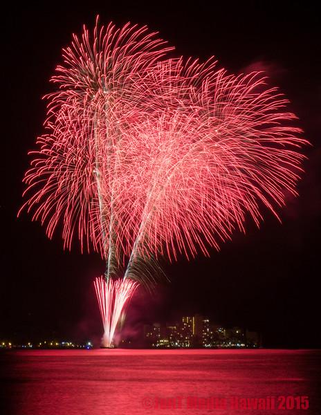 Honolulu Festival Fireworks in Waikiki 3-8-2015