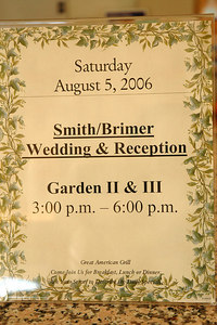 Smith & Brimer Wedding Aug 5, 2006