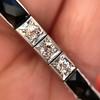 Art Deco Diamond & Onyx Bracelet 21