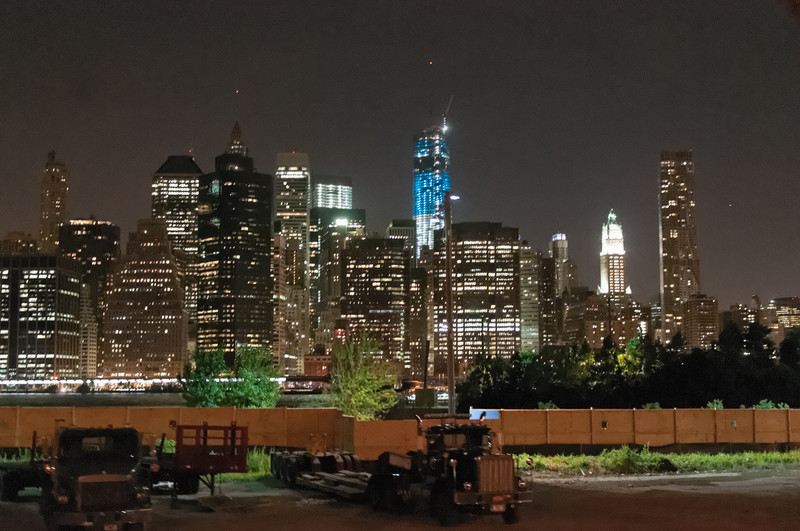 Manhattan von Brooklyn aus gesehen.