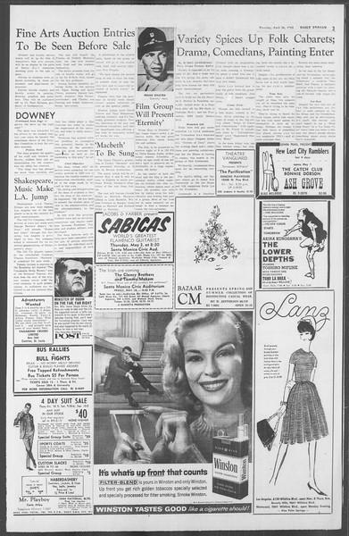 Daily Trojan, Vol. 53, No. 113, April 26, 1962