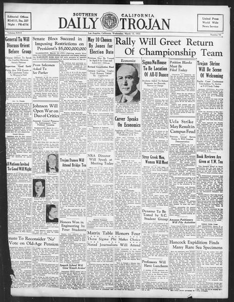 Daily Trojan, Vol. 26, No. 94, March 13, 1935