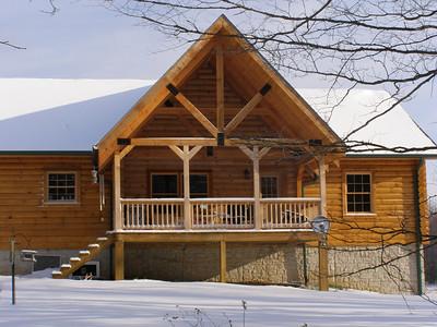 8 inch Round Round Log Homes