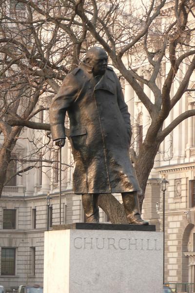 Winston Churchill's Statue. Parliament Square, London