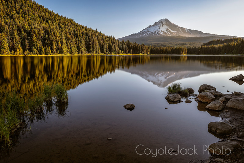 Mount Hood reflected in Tellurium