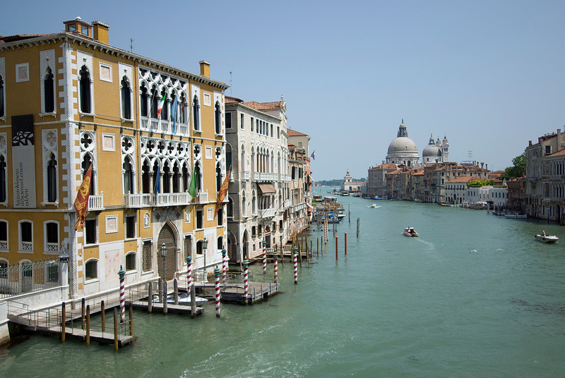 Wide shot of the Grand Canal in Venice, Italy