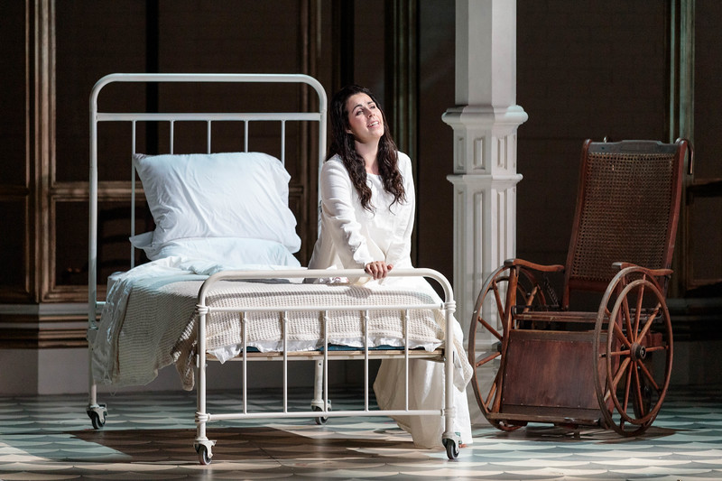 """Amanda Woodbury as Violetta in The Glimmerglass Festival's 2019 production of """"La traviata."""" Photo: Karli Cadel/The Glimmerglass Festival"""