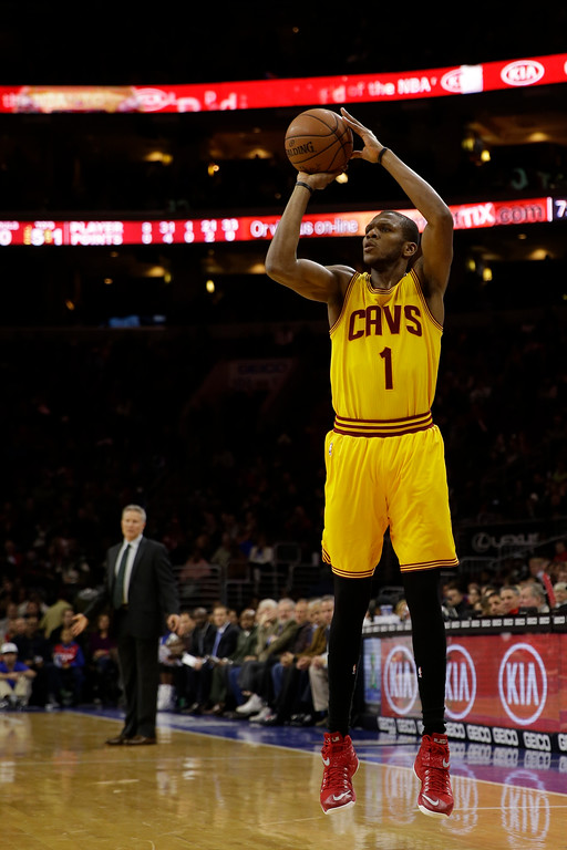 . Cleveland Cavaliers\' James Jones in action during an NBA basketball game against the Philadelphia 76ers, Monday, Jan. 5, 2015, in Philadelphia. (AP Photo/Matt Slocum)