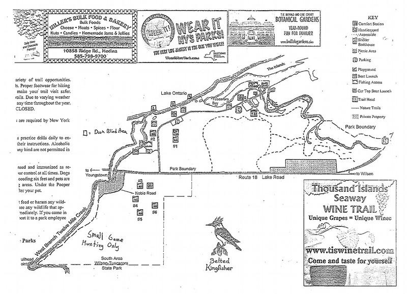 Wilson-Tuscarora State Park (Hunting Map)