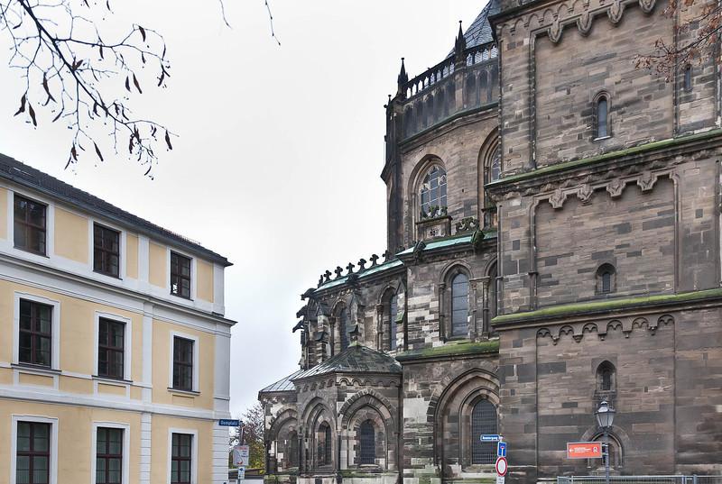 Magdeburg, Dom. Chor und Querhaus von Norden
