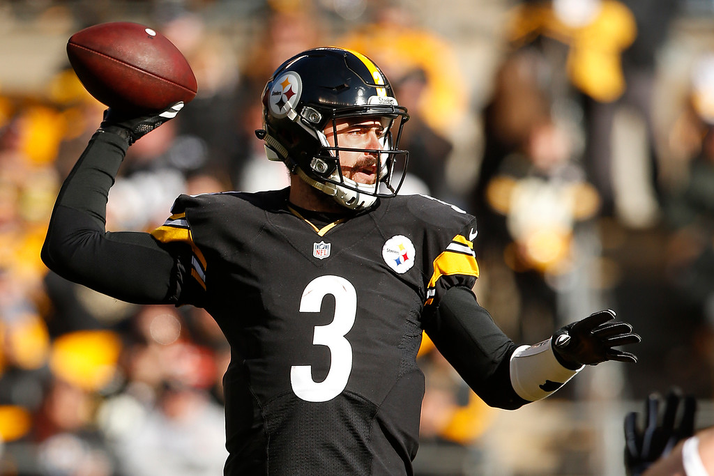 . Pittsburgh Steelers quarterback Landry Jones (3) throws a pass during the first half of an NFL football game against the Cleveland Browns in Pittsburgh, Sunday, Jan. 1, 2017. (AP Photo/Jared Wickerham)