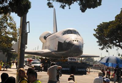 Space Shuttle arrives in LA October 2012